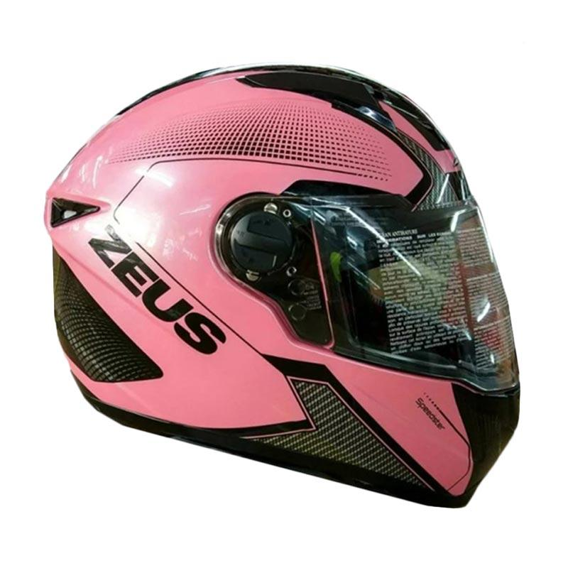 Zeus 811 Helm Full Face - Pink AL16 Hitam