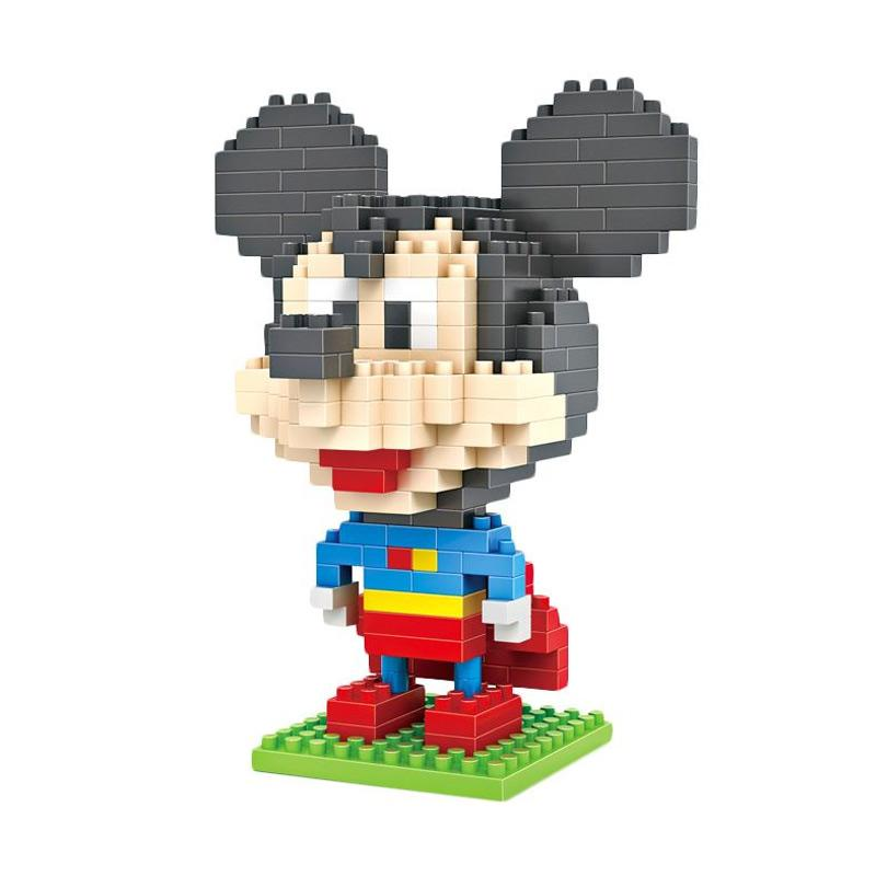 Loz Gift Large 9419 Superman Mickey Mainan Blok & Puzzle