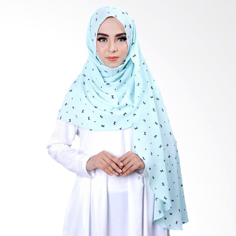 Cantik Kerudung Khloe Printed Jilbab Instant - No.2 Mint Green
