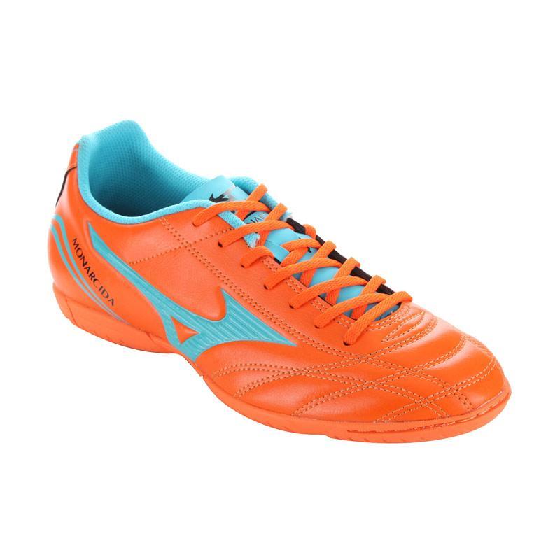 Mizuno Monarcida FS IN Sepatu Futsal Pria - Orange Blue Ocean [P1GF162329]