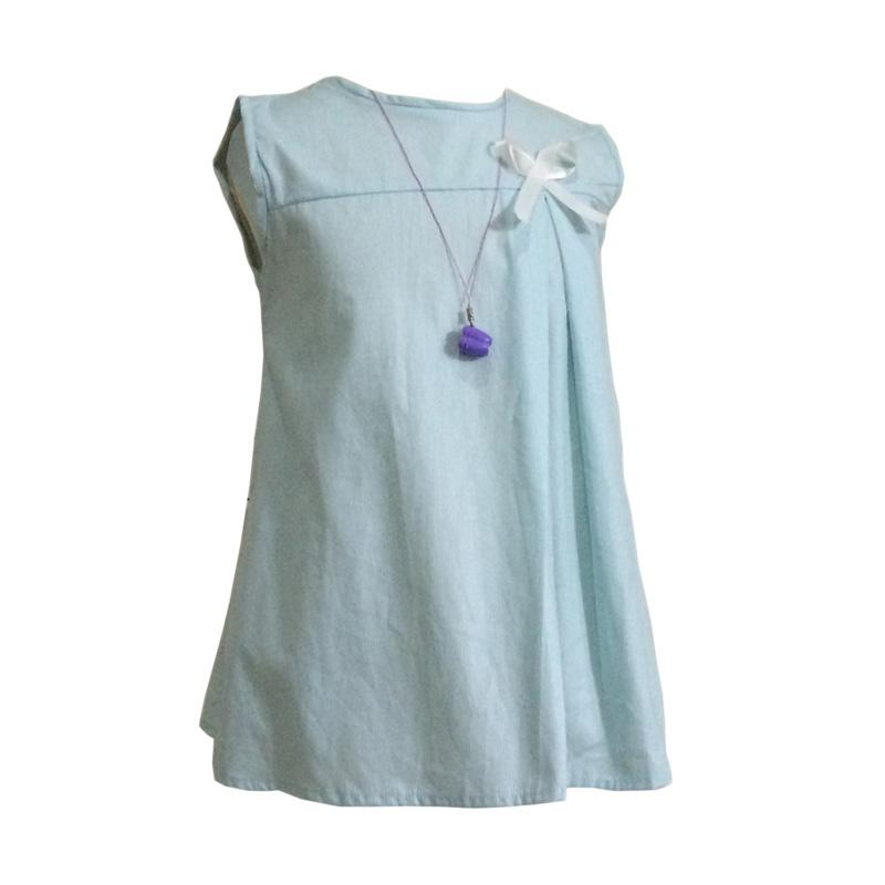 Kirana Kids Wear Nadia Dress Aqua - Blue