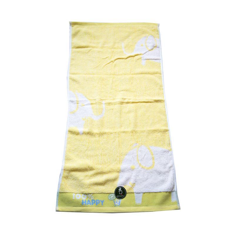 Dixon Happy Elephant 7066 Handuk Mandi - Yellow [60 x 120 cm]