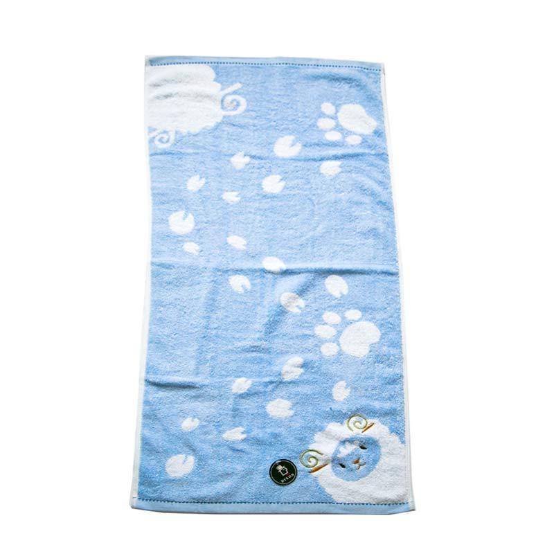 Dixon Embroidery Sheep 7069 Handuk Sport - Blue [35 x 80 cm]