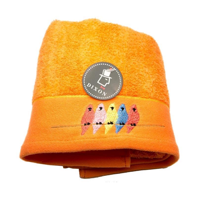 Dixon Bird Embroidery 7085 Handuk Mandi - Orange [70 x 140 cm]