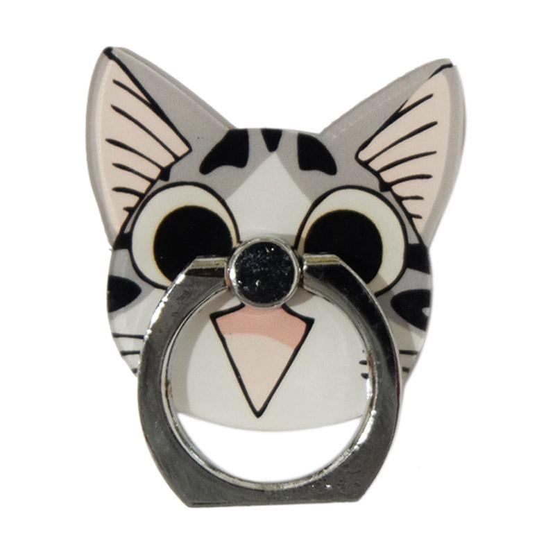 QCF 3D Animasi Happy Cat Ring Stand Holder Smartphone