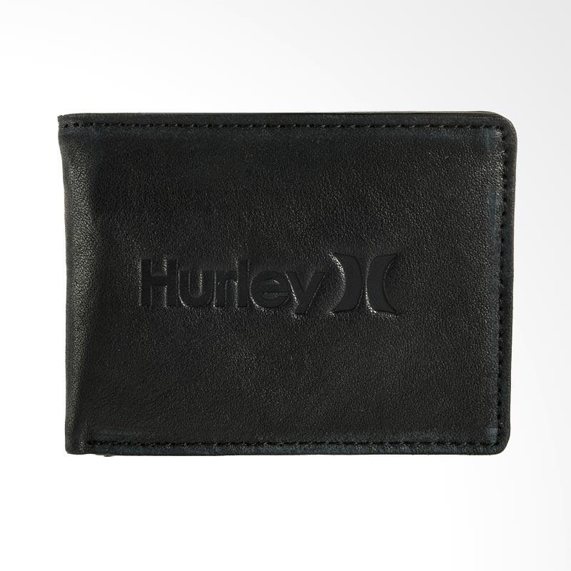 Hurley Jaws 2.0 Wallet Dompet Pria - Black [AMWAJWS2_BLK]