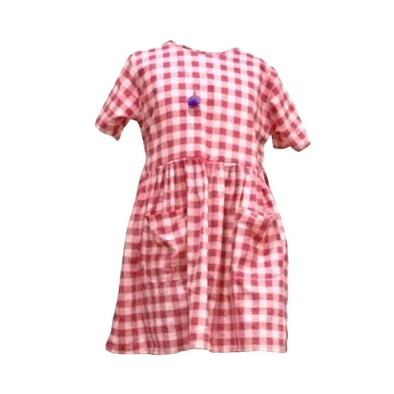 Kirana Kids Wear Dona Dress Anak - Red Square
