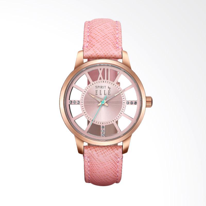 Spirit by Elle ES21003S02X Leather Jam Tangan Wanita - Pink