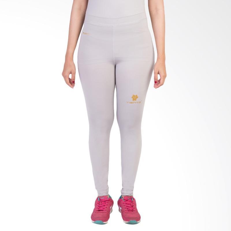 harga Tiento Baselayer Compression Legging Celana Panjang Olahraga Wanita - Grey Gold Blibli.com