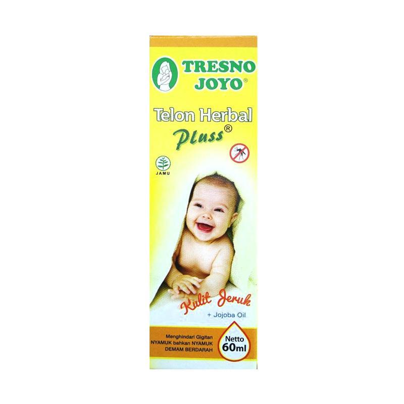 Tresno Joyo Plus Kulit Jeruk with Jojoba Oil Minyak Telon Herbal [60 mL]