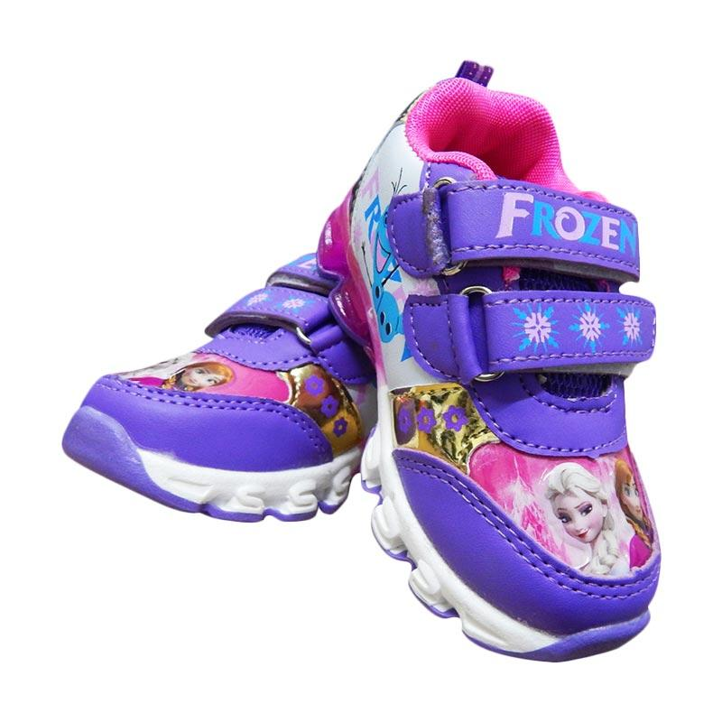 Wonderland Lampu Frozen Sepatu Anak Perempuan