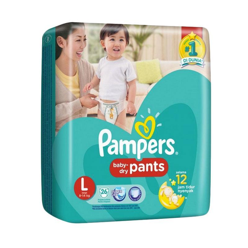 harga Pampers Baby Dry Pants Popok Sekali Pakai - Hijau [Size L/ 26 pcs] Blibli.com