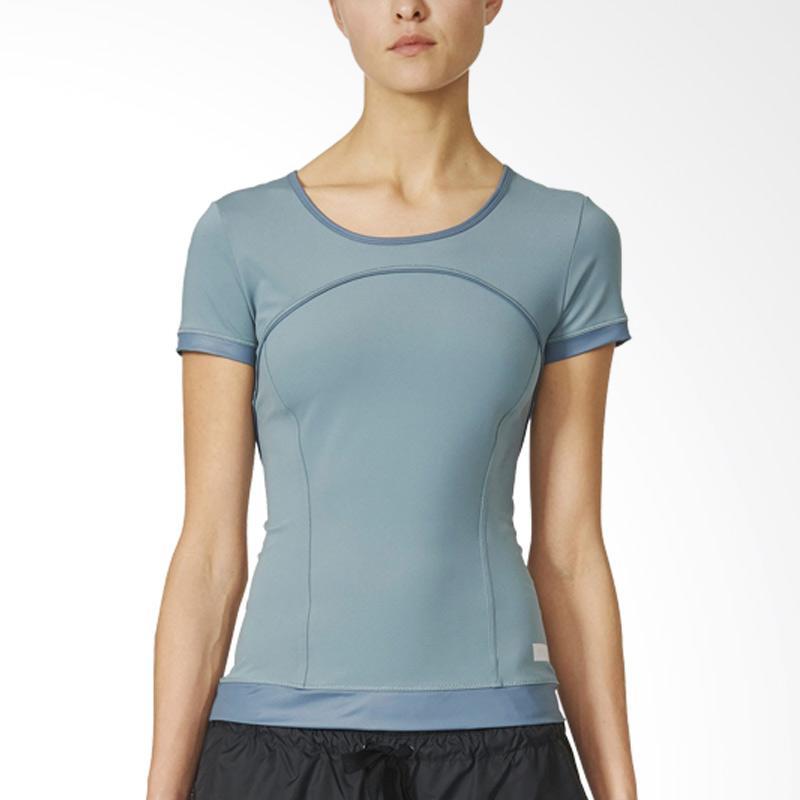 adidas The Perf Tee Kaos Olahraga Wanita - Chablue [AX7070]