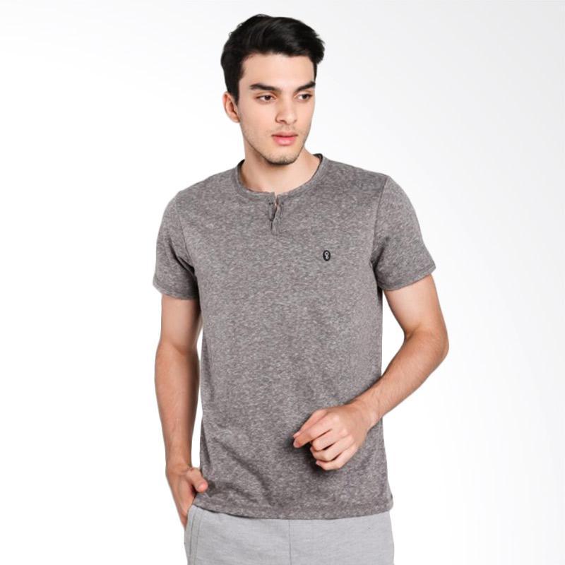 Greenlight Men 6312 T-Shirt Pria - Grey [263121712]