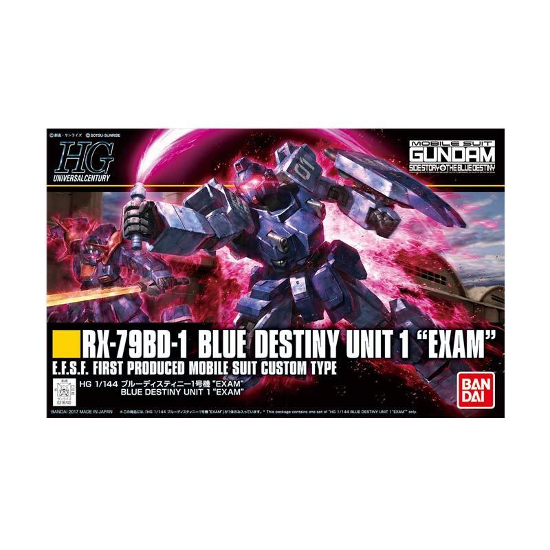 Bandai HGUC RX-79BD-1 Destiny Unit 1 EXAM Model Kit - Blue [1 : 144]