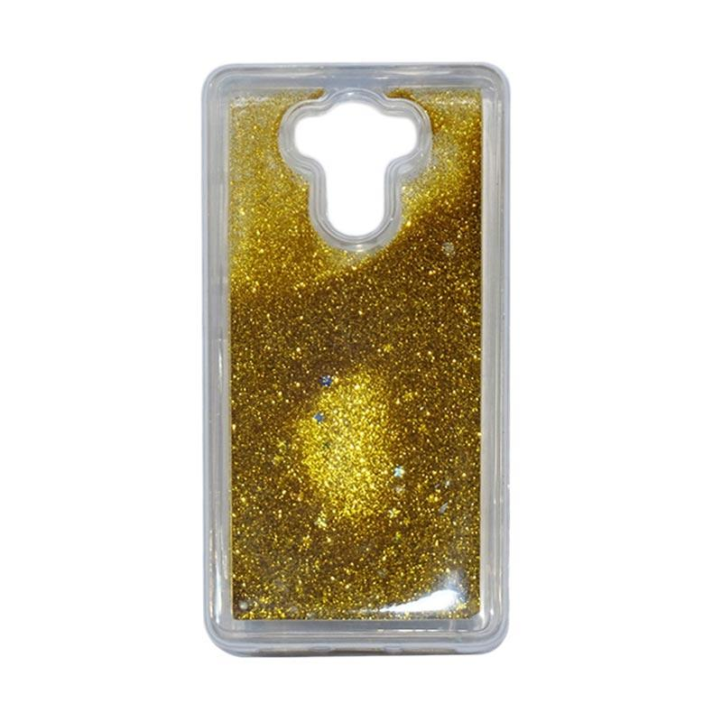 QCF Softcase Water Glitter Aquarium Silicone Casing for Xiaomi Redmi 4 Case Blink Blink - Gold