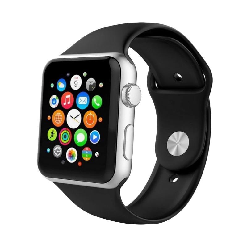 QCF Silikon Band Tali Pengganti Jam Tangan Smartwatch Apple Watch 42mm - Hitam
