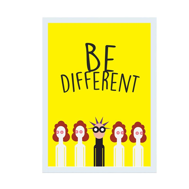 Cadrehome Be Different A4 Dekorasi Dinding