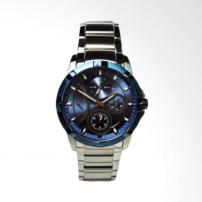 Alexandre Christie AC2503BF Multifunction Silver Dial Blue Stainless Steel Jam Tangan Wanita