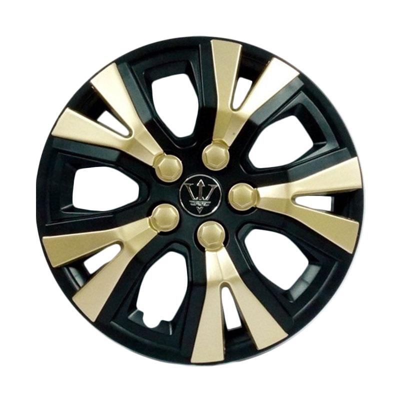 SIV WAY-1GL-13 inch Sport Wheel Cover Evolution Design Set Dop Roda Mobil - Black Gold