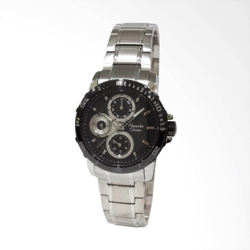 Alexandre Christie 6473BFBTBBA Stainless Steel Bracelet Jam Tangan Wanita - Silver