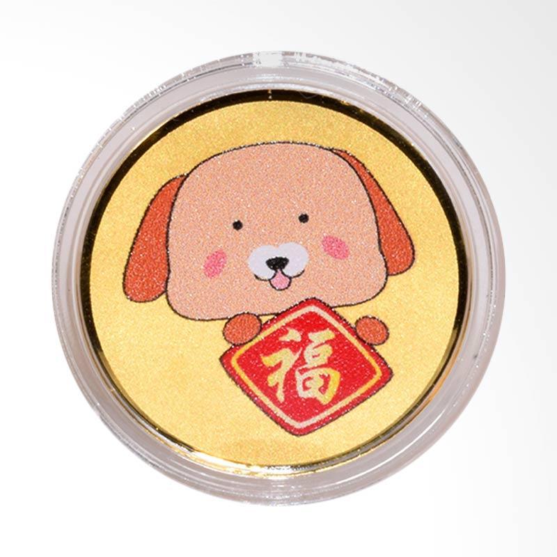 Tiaria 24K Dog Fu Logo Coin Logam Mulia [Emas Murni/ 0.2 g]