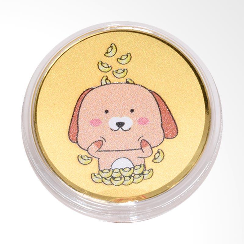 Tiaria Dog Money Rain Coin Logam Mulia Emas Murni [24 Karat]