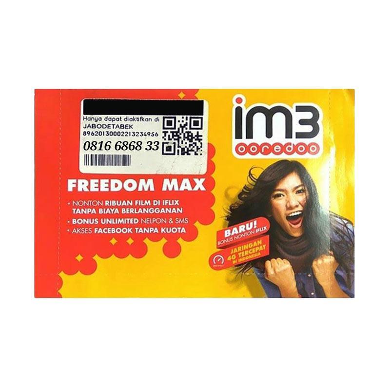 Indosat Nomor Cantik 0816 6868 33 Kartu Perdana Im3 [10 Digit/ 4G LTE]