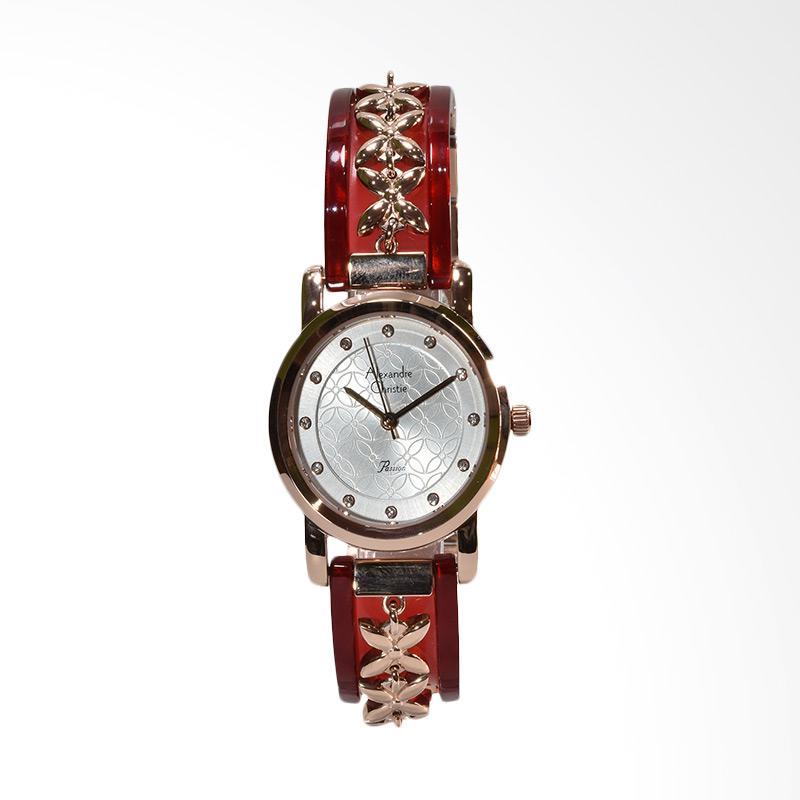 Alexandre Christie 2568LHBRGSLRE Stainless Steel Case Jam Tangan Wanita - Rosegold Red