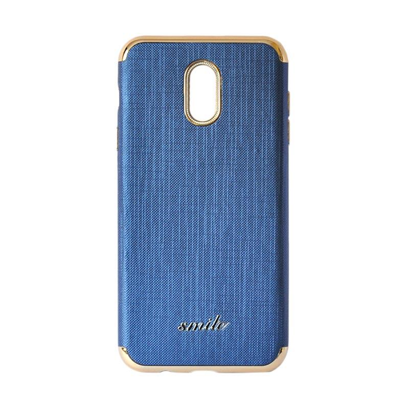 SMILE Silkwood Denim Casing for Samsung Galaxy J7 Plus - Blue