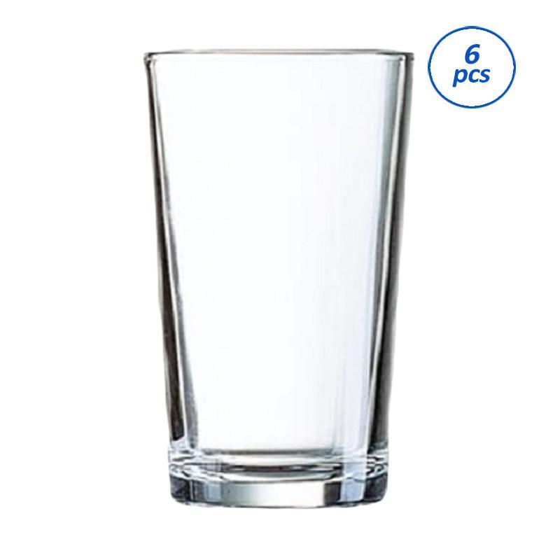 Luminarc Coniques HB Tumbler Set Gelas Minum - Transparent [28 cl/6 pcs]