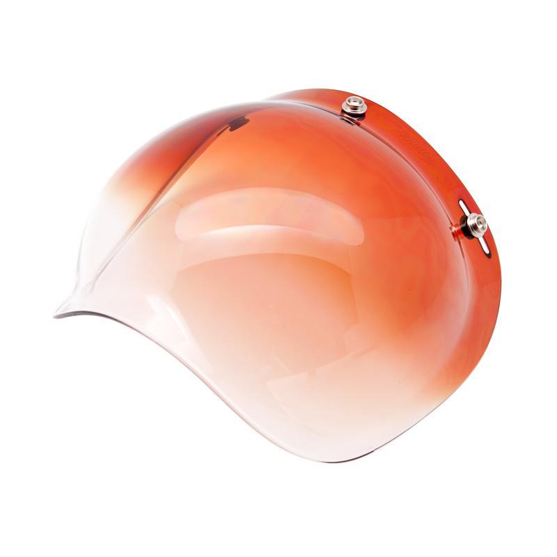 Boulter Helmet Bubble Shield Visor Helm - Gradient Amber