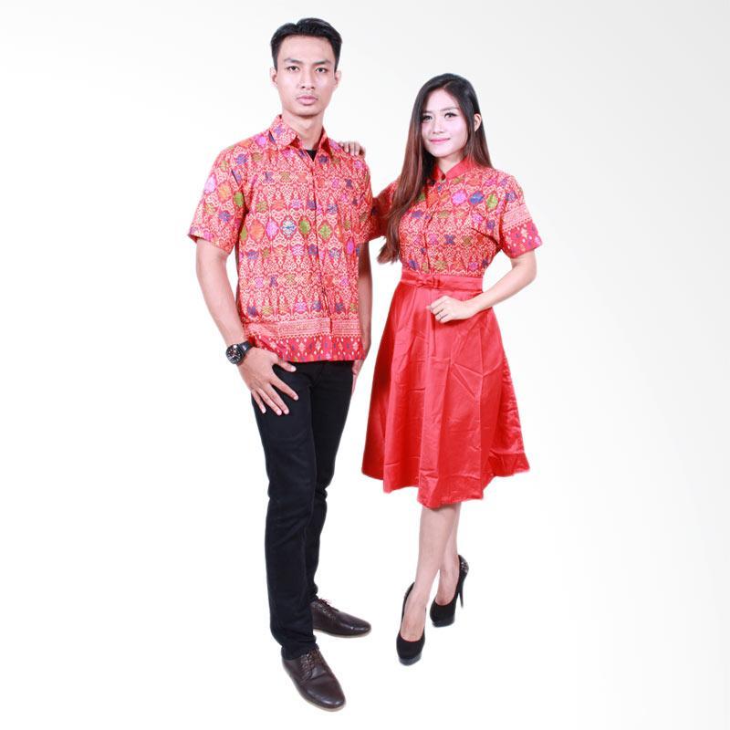 Batik Putri Ayu Solo SRD502 Batik Sarimbit Couple - Merah