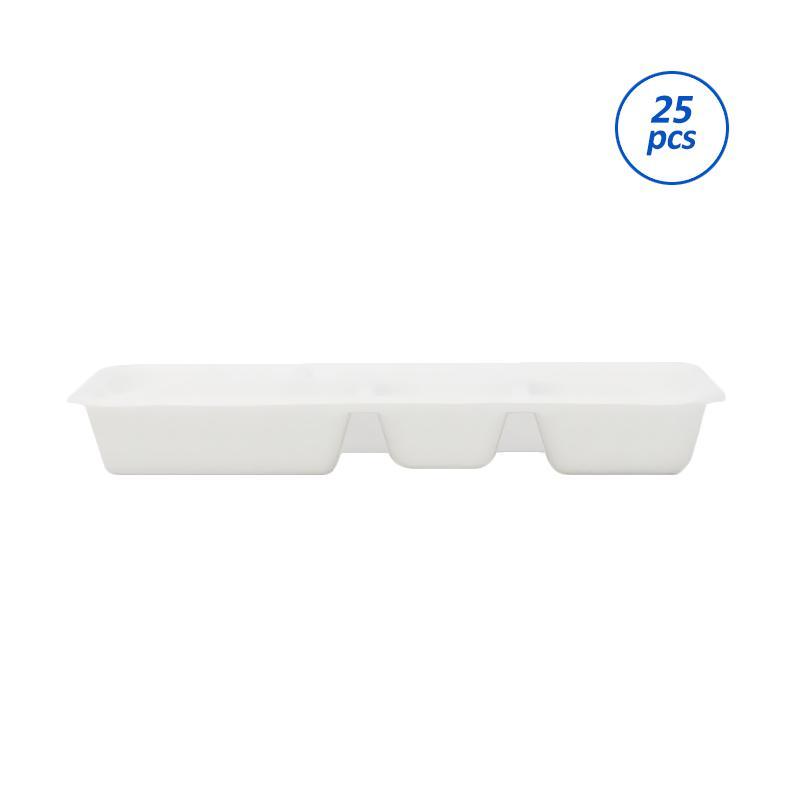 Avani Bagasse Food Box [5 Compartment/ 25 pcs]