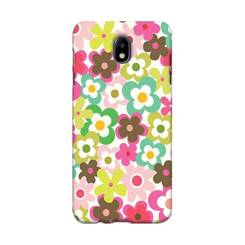 Premiumcaseid Cute Colorful Flower Hardcase Casing for Samsung Galaxy J7 Pro - Multicolor