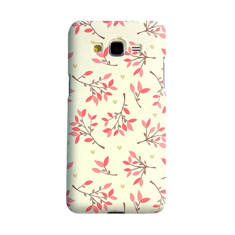 Premiumcaseid Cute Floral Seamless Shabby Hardcase Casing for Samsung Galaxy Core 2