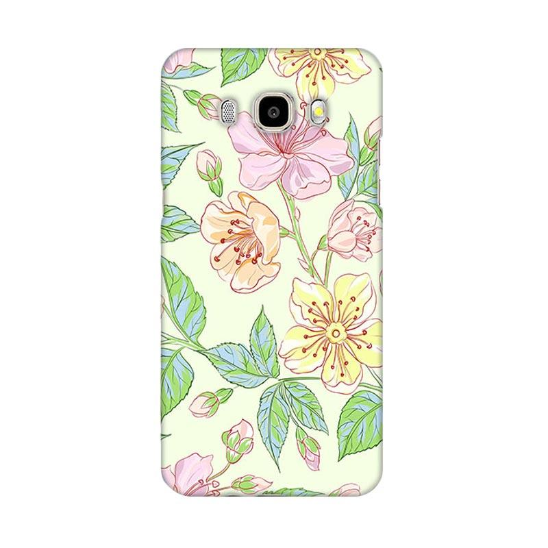 Premiumcaseid Beautiful Flower Wallpaper Cover Hardcase Casing for Samsung Galaxy J5 2016