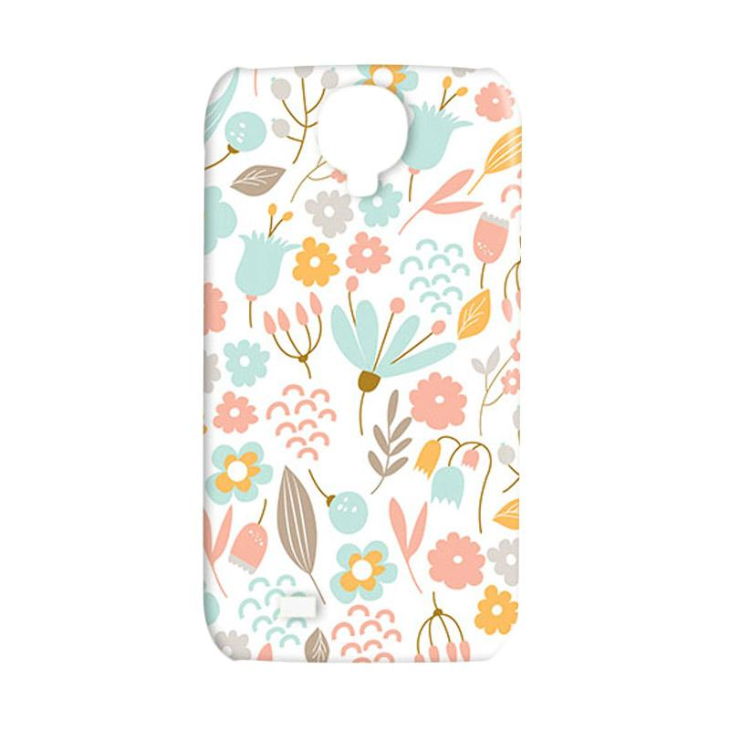Premiumcaseid Cute Pastel Shabby Chic Floral Hardcase Casing for Samsung Galaxy S4