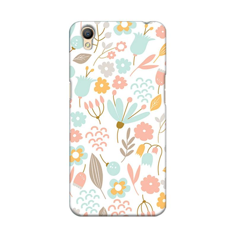 Premiumcaseid Cute Pastel Shabby Chic Floral Hardcase Casing for Oppo Neo 9 A37