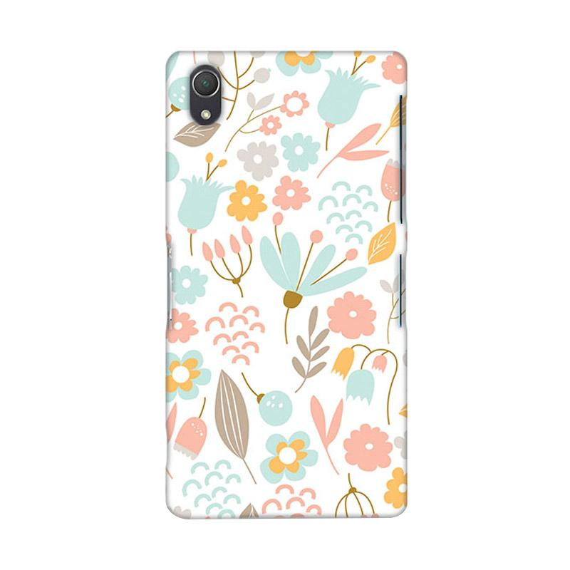Premiumcaseid Cute Pastel Shabby Chic Floral Hardcase Casing for Sony Xperia Z2