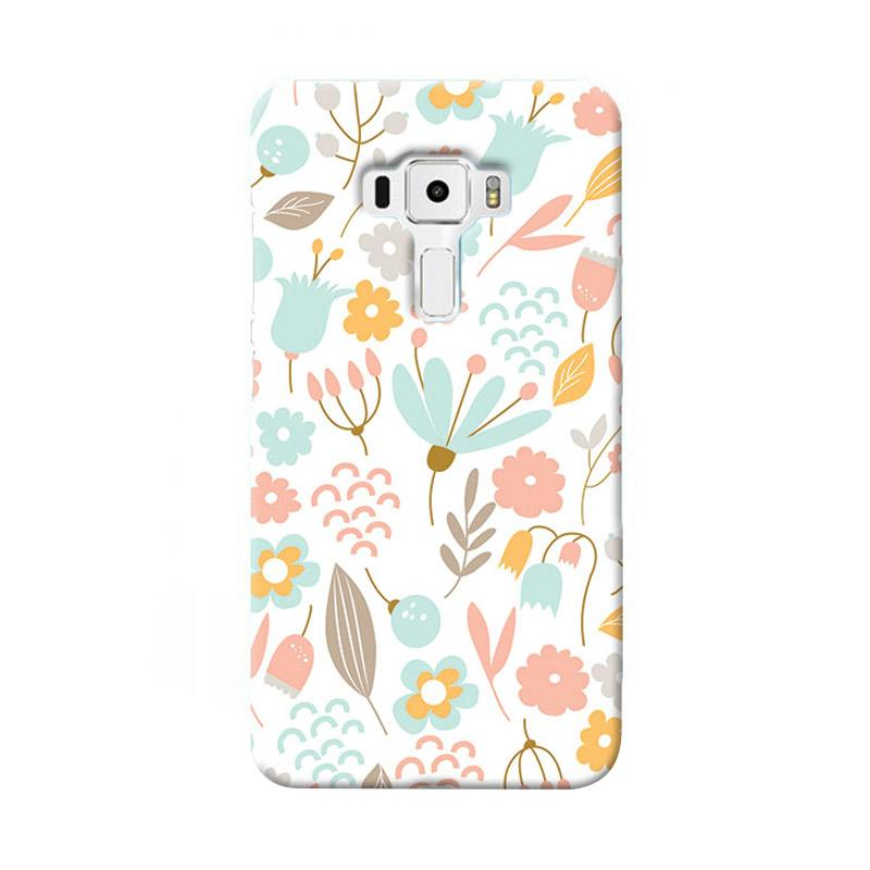 Premiumcaseid Cute Pastel Shabby Chic Floral Cover Hardcase Casing for Asus Zenfone 3