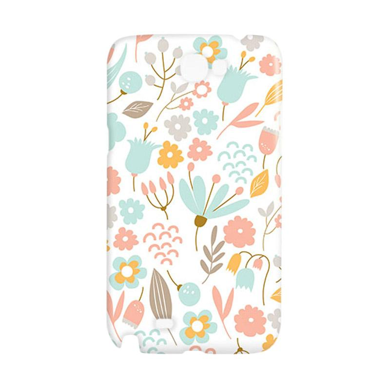 Premiumcaseid Cute Pastel Shabby Chic Floral Cover Hardcase Casing for Samsung Galaxy Note 2