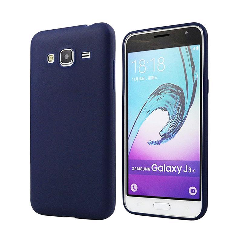 Lize Design Case Anti Glare Silicone Casing for Samsung Galaxy J310 / J3 2016 Candy Case Matte - Biru Tua
