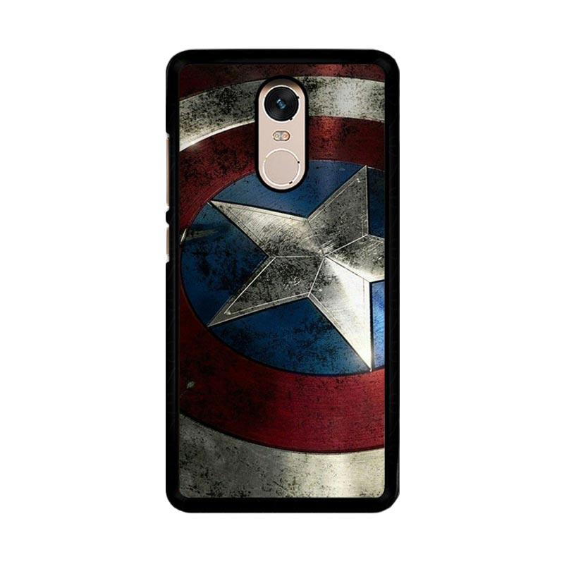 Flazzstore Captain America-0001 O0169 Custom Casing for Xiaomi Redmi Note 4 or Note 4X Snapdragon Mediatek