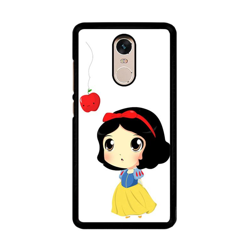 Flazzstore Cute Snow White Chibi F0160 Custom Casing for Xiaomi Redmi Note 4 Note 4X Snapdragon Mediatek