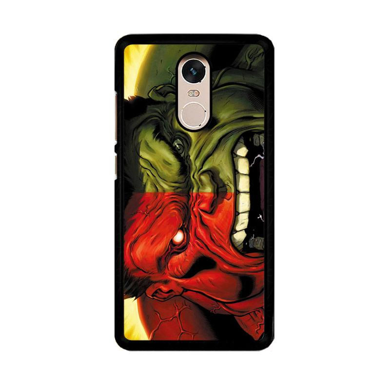 Flazzstore Red Hulk Vs Green Hulk F0212 Custom Casing for Xiaomi Redmi Note 4 or Note 4X Snapdragon Mediatek