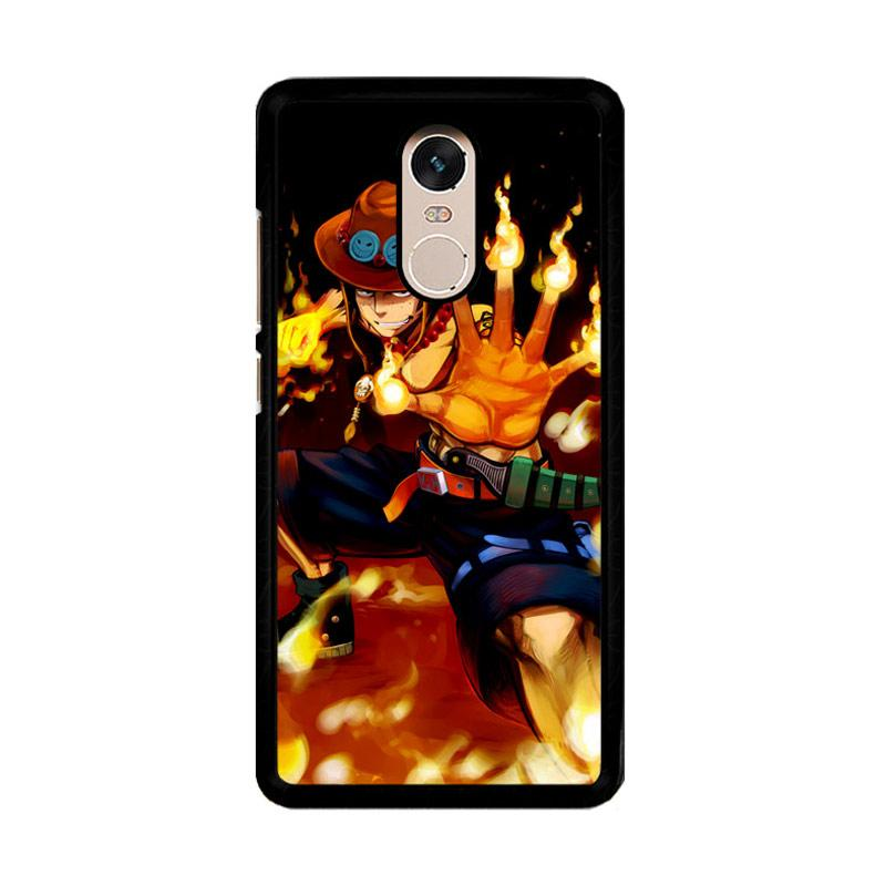 Flazzstore One Piece Portgas D Ace Fire Cool Z0660 Custom Casing for Xiaomi Redmi Note 4 or Note 4X Snapdragon Mediatek