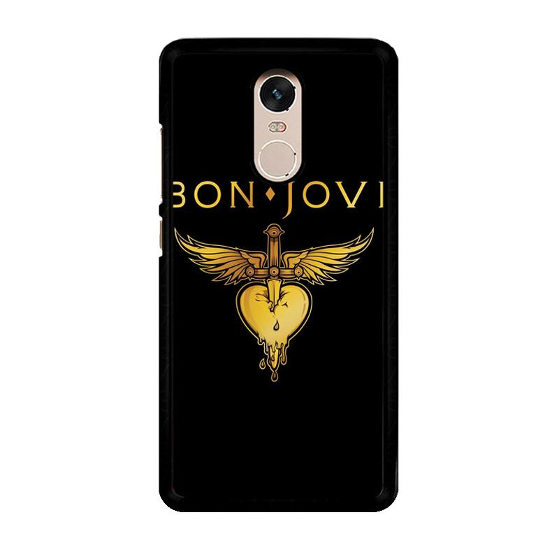 Flazzstore Bon Jovi Logo F0357 Custom Casing for Xiaomi Redmi Note 4 or Note 4X Snapdragon Mediatek