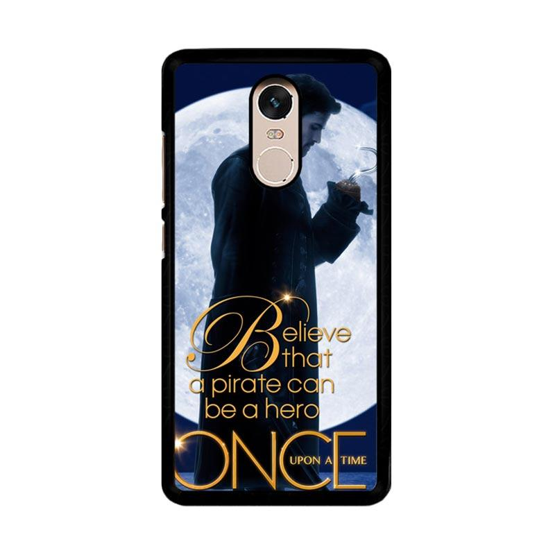 Flazzstore Once Upon A Time Captain Hook Believe F0542 Custom Casing for Xiaomi Redmi Note 4 or Note 4X Snapdragon Mediatek