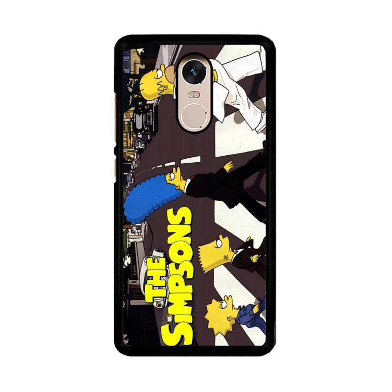 Flazzstore The Simpsons A Tribute The Beatles F0814 Custom Casing for Xiaomi Redmi Note 4 or Note 4X Snapdragon Mediatek